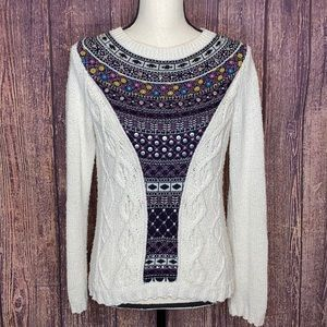 ANTHRO ANGEL OF THE NORTH algarve knit sweater MD